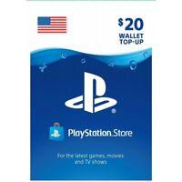 Sony US Playstation Network Playstation Store PSN USD 20 Dollar Code PS4 PS3