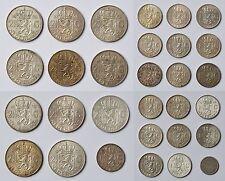 Sammlung Lot Konvolu 30 Silbermünzen Niederlande 285 g Silber 2 1/2 und 1 Gulden