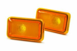 Porsche 968 91-95 Orange Side Indicators Repeaters Pair Set Driver Passenger