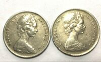 🇦🇺2x 1972 5 Cent Australian Coins Low Mintage Scarce Collectable📮FREE Postage