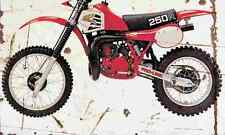Honda CR250R 1981 Aged Vintage Photo Print A4 Retro poster