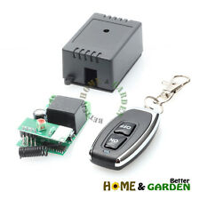 DC12V 10A 1CH RF Wireless Remote Control Learning Receiver + ON OFF Transmitter