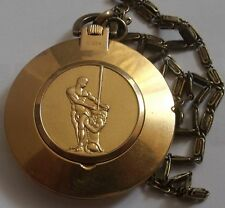 VERY RARE RAKETA-23-KAMNIA- OLD OPEN FACE USSSR POCKET WATCH-gold plated