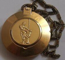 VERY RARE RAKETA-23-KAMNIA- OLD OPEN FACE USSSR POCKET WATCH-gold plated