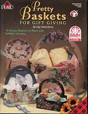 Pretty Baskets Gift Giving Decorative Tole Painting Book by Gigi Smith-Burns NEW