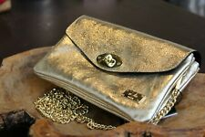 VERSACE 19.69 Women's 100% Leather Gold Small Purse Free Shipping New with Tags