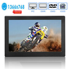 "12"" LED Monitor FHD 1366P Bildschirm PC CCTV Monitor HDMI/VGA Dual Lautsorecher"