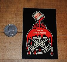 Obey Giant Shepard Fairey Cover The Earth Paint Can Rare sticker Banksy