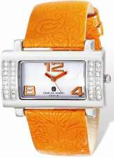 Ladies Charles Hubert Stainless Orange Leather 40x23mm Watch