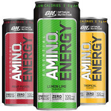Optimum Nutrition Amino Energy Cans Bcaa Caffeine Pre Workout Choose Quantities