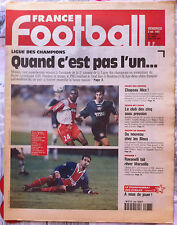 FRANCE FOOTBALL 3/10/1997; Ligue des champions/ Ravanelli/ / coupe de l'UEFA