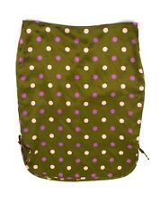 BETSEY JOHNSON New York Metallic Green Silk Polka Dot Tie Side Pencil Skirt Sz 6