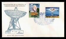 DR WHO 1975 DOMINICAN REPUBLIC FDC SATELLITE COMMUNICATION STATION C236382