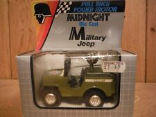 Zodiac Toys Midnight Diecast pull back Military Jeep boxed (G021)
