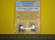 Personnages TML HO ASSIS Pr voiture voyageur bus autocar auto camion - lot de 16
