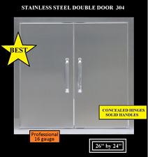 """26"""" DOUBLE WALLED ACCESS DOOR 16 GAUGE OUTDOOR KITCHEN BBQ 304 STAINLESS STEEL"""