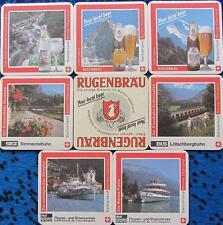 Bierdeckel Serie Sammlung - Schweiz - Rugenbräu Interlaken - 7 verschiedene