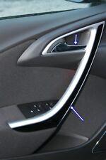 VAUXHAL/OPEL ASTRA J HB/Berlina 4 PORTE 2010+ CROMATO Interno Maniglia Porta Acciaio Tagliare S.