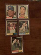 New listing 1961 Topps LOT Of 5 - 107 109 110 111 112 Morehead Podres Pinson Meyer Fernandez