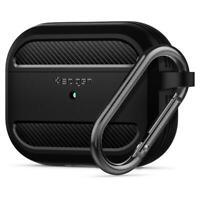 For Apple AirPods Pro Case Spigen® [Rugged Armor] Matte Black Shockproof Cover