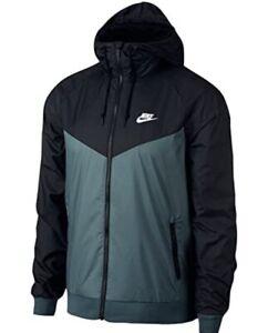 Nike Men's XL Windrunner Jacket Jade Green Black 727324-374