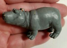 Hippopotamus Hippo Miniature Mini Safari Pvc Figurine Figure 1 x 2.25""
