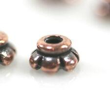Scalloped Bead Caps, TierraCast, Tiny 4mm, Antiqued Copper, 50 Pcs, 9618
