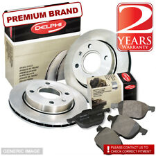VW FOX 1.2 54bhp Delphi Front Brake Pads & Discs 256mm Vented (Teves Sys)