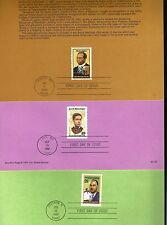 SP#58 Black Americana Scott Joplin J. Matzeliger P.Julian  (3) Souvenir  Pages