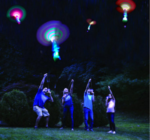 2X Dragonfly Toy Flash Kids Children Flying Rotor LED Light Up Gift Spinning UK