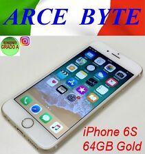 "APPLE IPHONE 6S 64GB GOLD FATTURABILE WIFI LTE DISPLAY RETINA 4.7"" A1688 GRADO A"