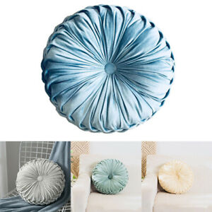 Round Velvet Cushion Cover Filled Crushed Seat Sofa Backrest Pumpkin Pad Pillow