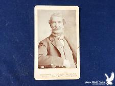 Henri Gascon Birmingham UK Antique CDV Portrait Man WEIRD BEARD Bushy Mustache