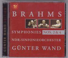GÜNTER WAND-BRAHMS SYMPHONIES NOS.2 & 4-NDR SINFONIEORCHESTER-RCA RED SEAL