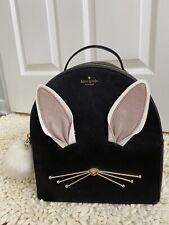 NWT KATE SPADE NEW YORK🐰Hop To it Rabbit Sammi Black Leather Backpack Purse Bag