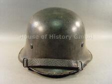 955561, Feuerschutzpolizei Stahlhelm M35/40, Größe: 56 cm, Hersteller im Nacken