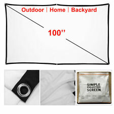 100' Inch Foldable Projector Screen Hd 16:9 Home Theater Movie Backyard Outdoor