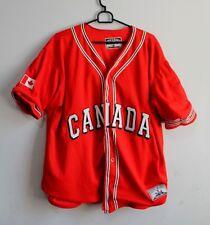 Vintage STEVE & BARRYS Red Jacket Shirts Canada Team Baseball Varsity Size XL