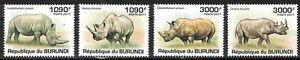 BURUNDI:2011 SC#832-35 MNH Rhinoceros mr21