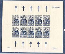 timbres France libre colonies générales aide aux résistants  num: 6  feuille **