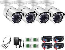 ZOSI 4 Pack 1080P HD TVI Waterproof Indoor/Outdoor Camera security System 100ft