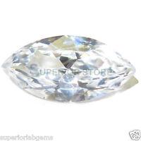 6.0 x 12 mm 2.00ct MARQUISE Cut Sim Diamond, Lab Diamond WITH LIFETIME WARRANTY