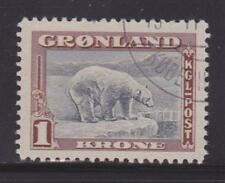 Greenland 16 Vf-used light cancel nice color scv $ 43 ! see pic !