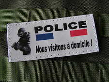 SNAKE PATCH - Police, nous visitons à domicile ! Humour ARTICLE FANTAISIE