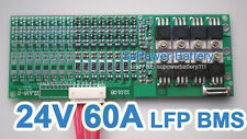 24V 25.6V 60A LiFePo4 Battery BMS LFP PCM SMT System 8S 3.2V eBike Battery 8x 3V