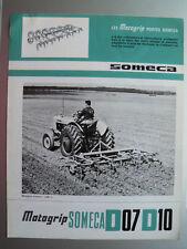 Prospectus SOMECA  MOTOGRIP  D07  D10   Tracteur   1964