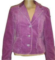 INC International Concepts Pink/Mauve Corduroy Women's Jacket Size Petite Small
