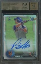 2016 Bowman Chrome Refractor Pete Alonso RC Rookie AUTO 406/499 BGS 9.5 w/ 10