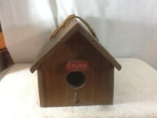 """Vintage Coca Cola Crate Wooden Birdhouse 11"""" x 7"""" x 7.5"""" pre-owned Must Have"""