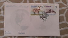 2005 CANADA- White-Tailed deer and Atlantic walrus- FDC STAMPS